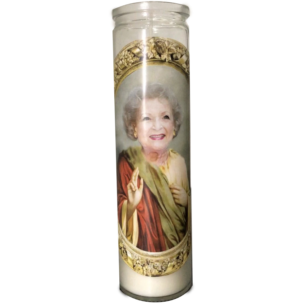 Betty White Celebrity Prayer Candle