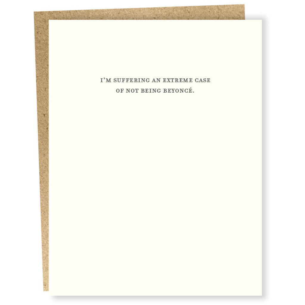 Mild Confessions - Beyonce Card