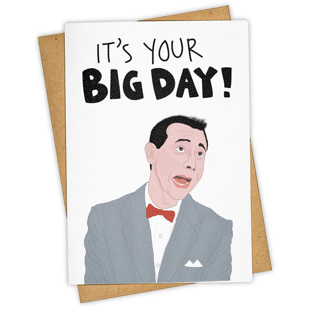 Big Day Pee-wee Card