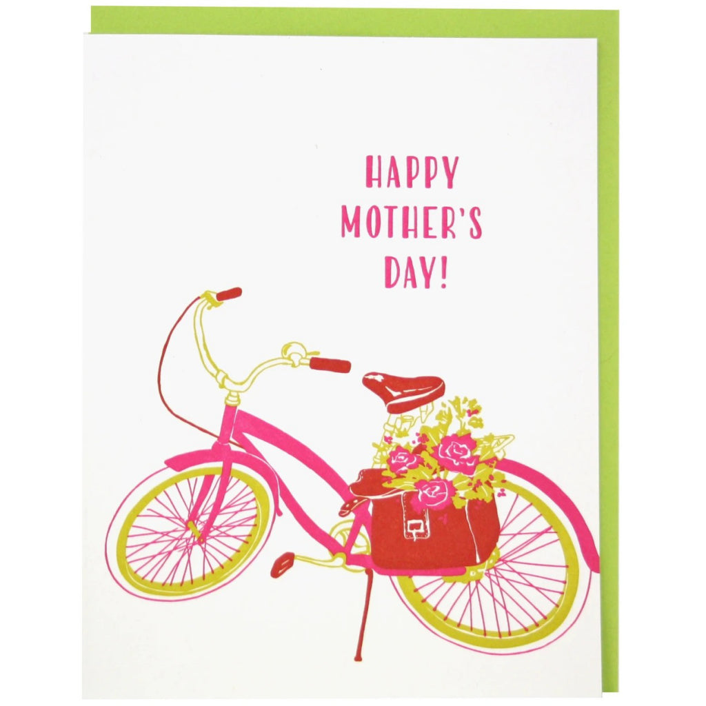 Bike With Flowers Mom Card