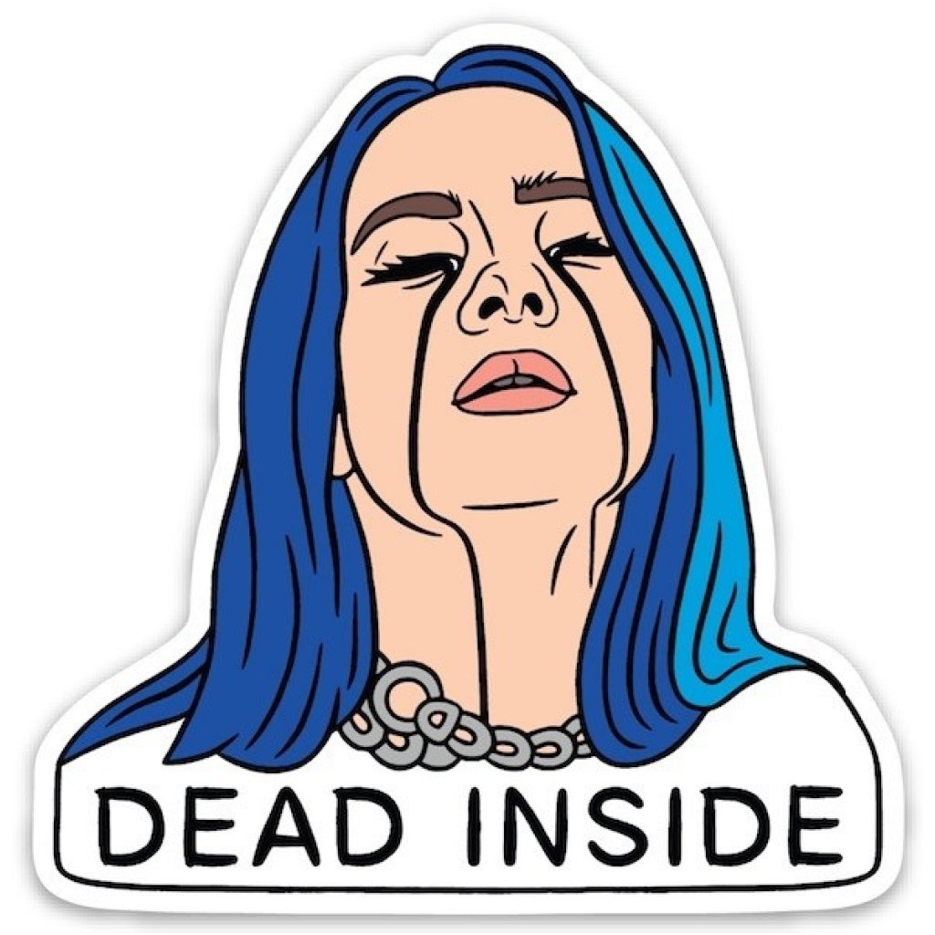 Billie Eilish Dead Inside Sticker