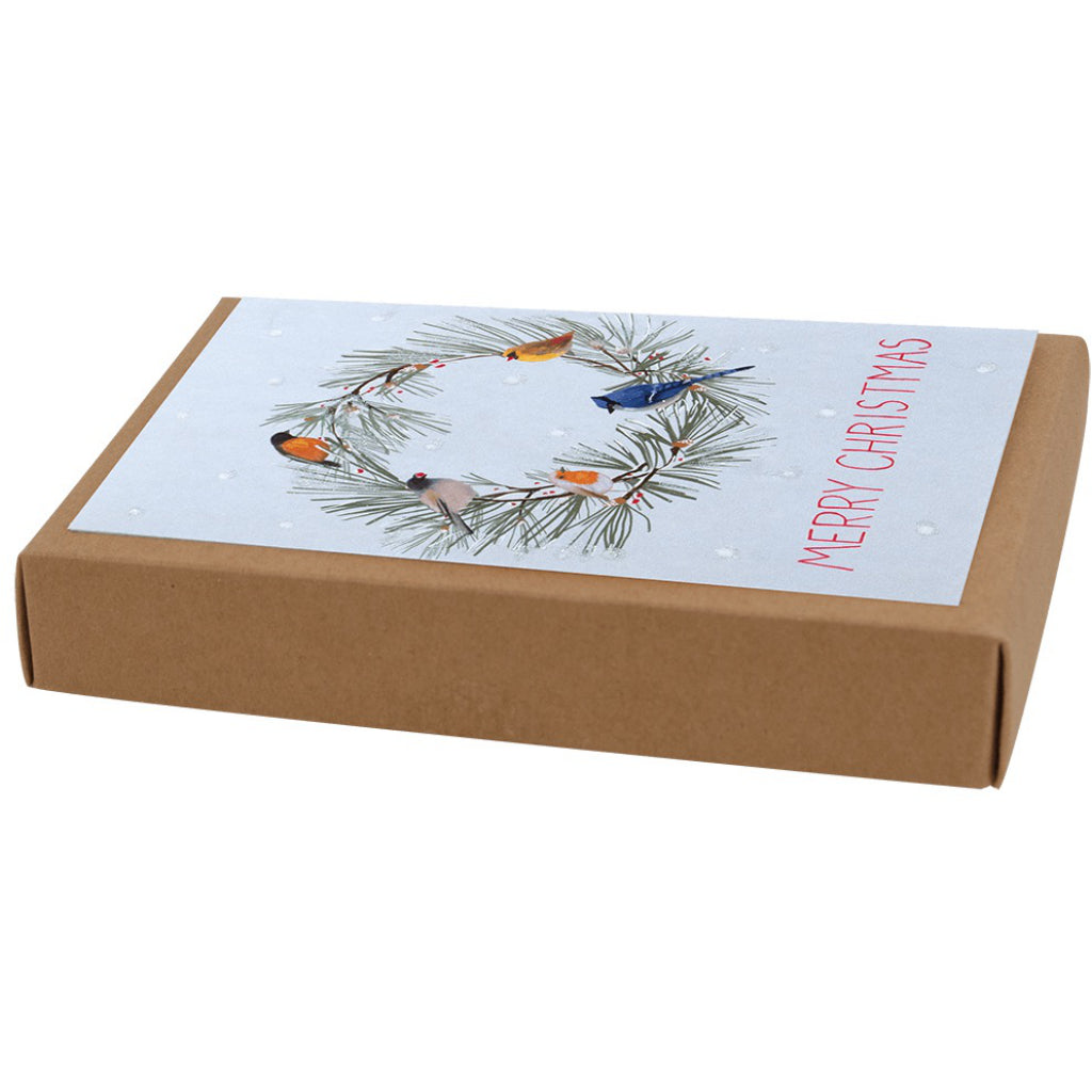 Birds All Around Boxed Christmas Cards Package