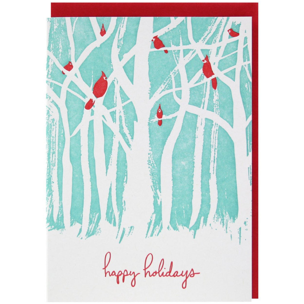 Birds In The Woods Card