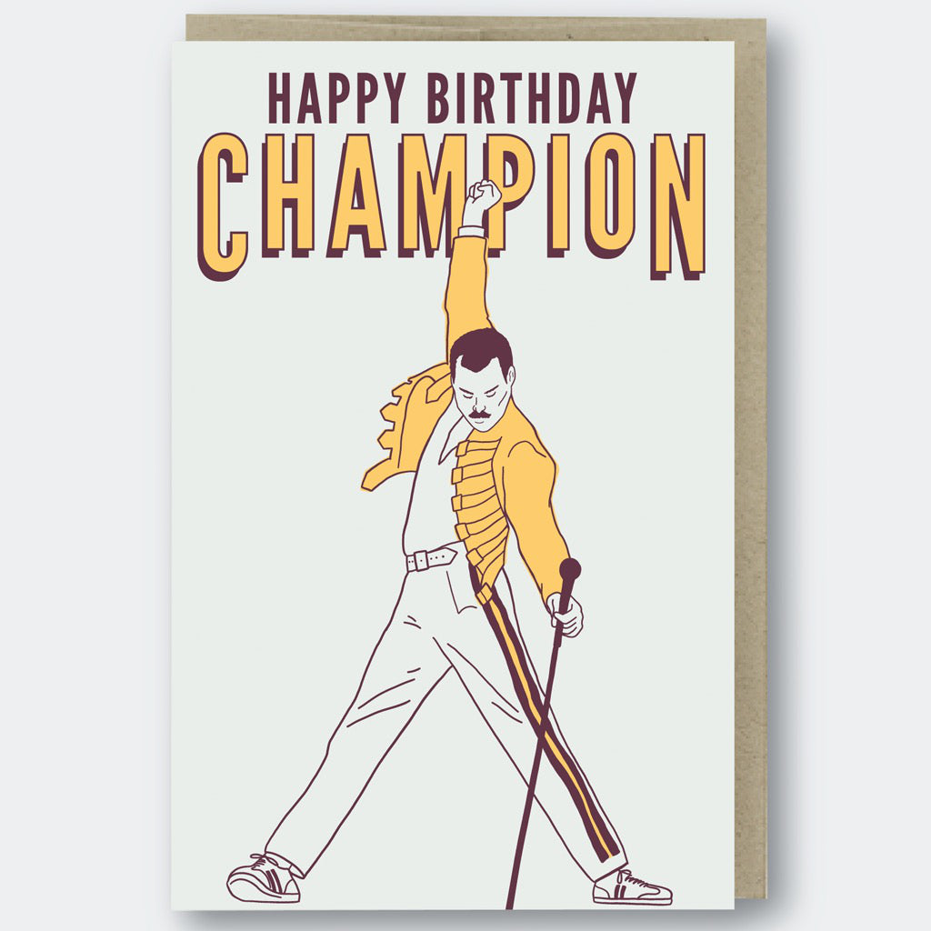Birthday Champion Freddie Mercury Card