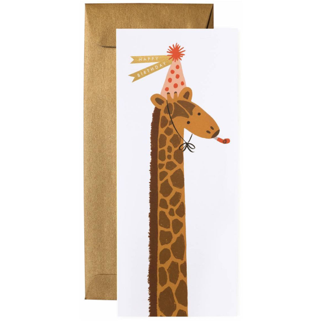 Birthday Giraffe No.10 Card