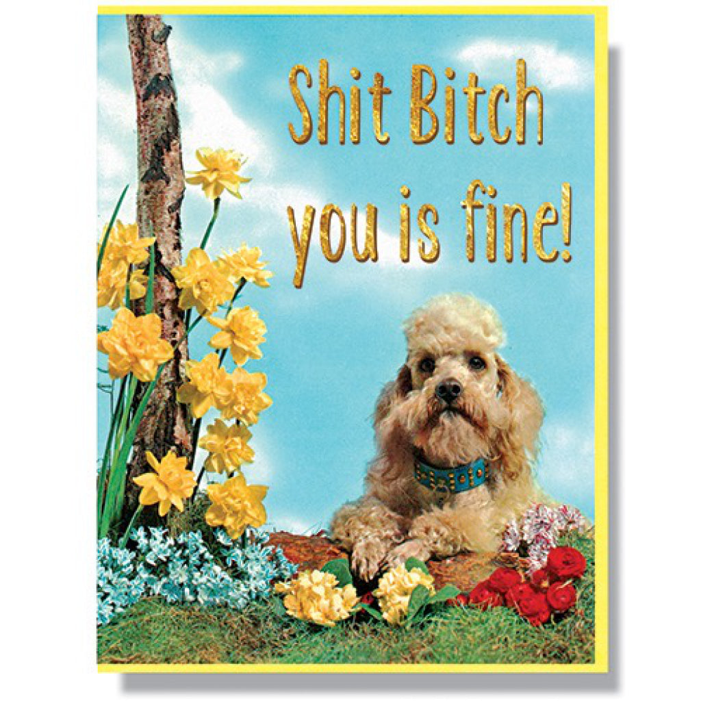 Bitch You Is Fine Card