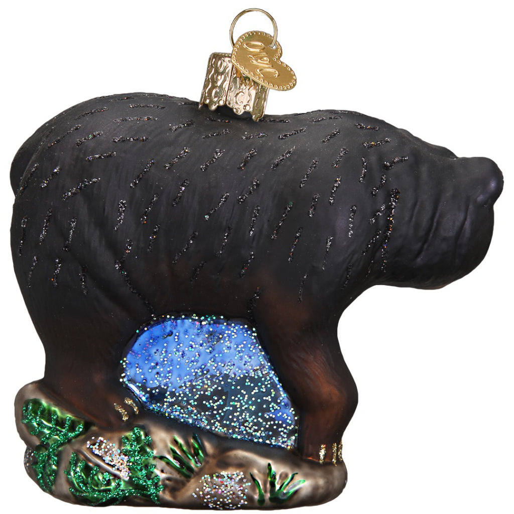 Back of Black Bear Ornament.