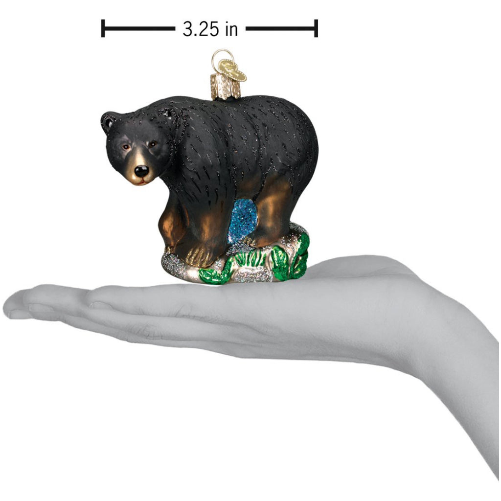 Size of Black Bear Ornament.