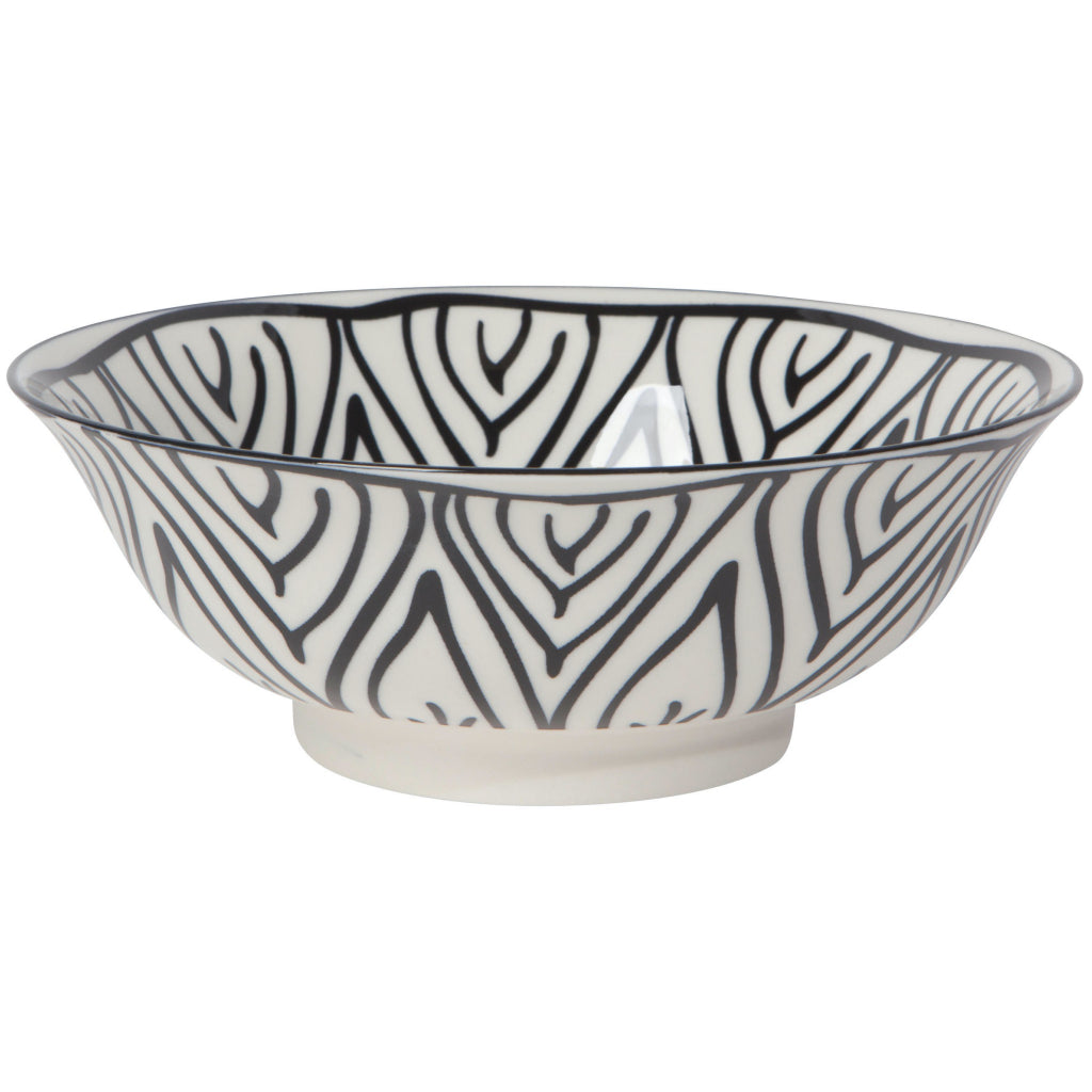 Black Bloom 8 Inch Stamped Bowl
