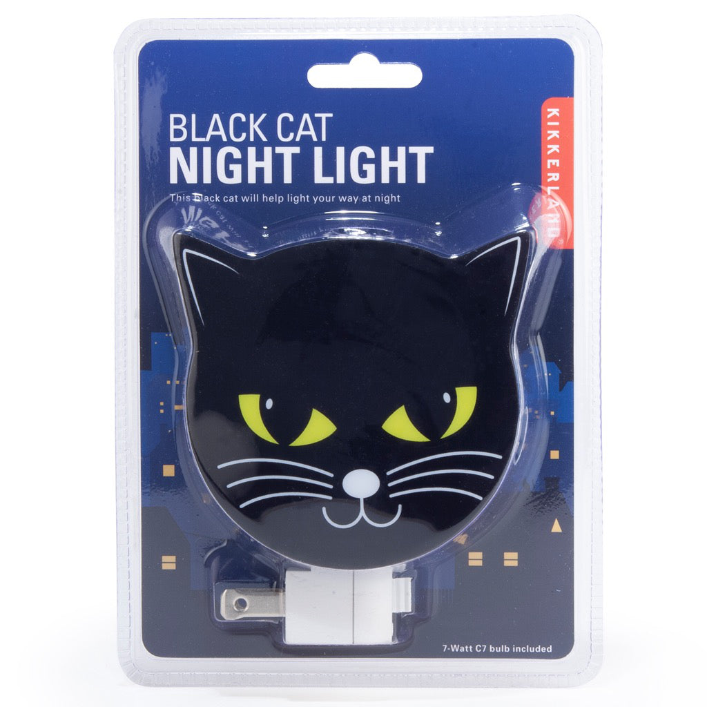 Packaging of Black Cat Night Light.