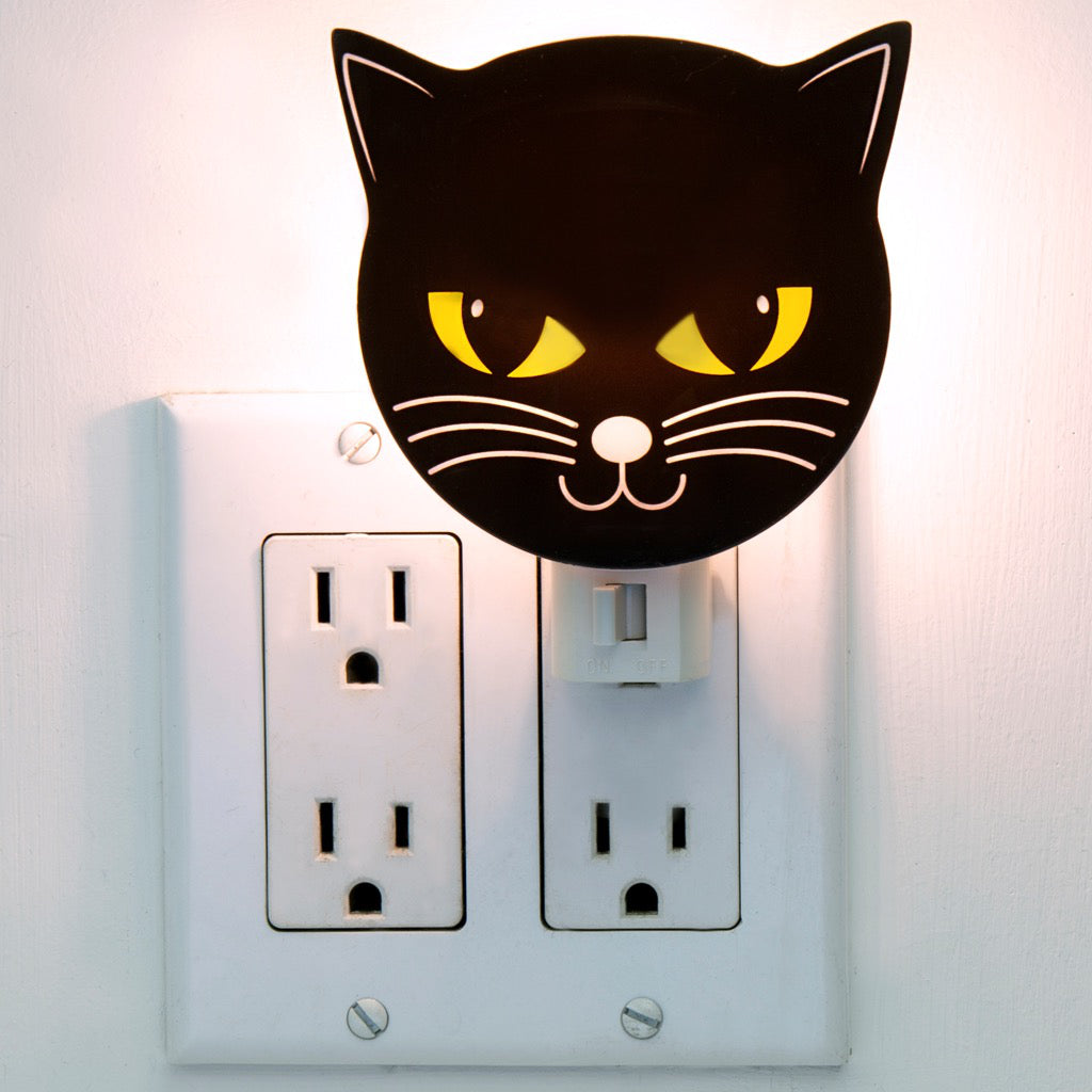 Lifestyle of Black Cat Night Light.