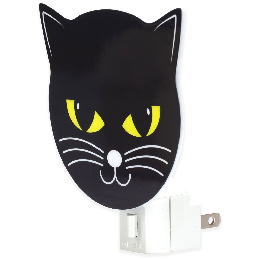 Side view of Black Cat Night Light.