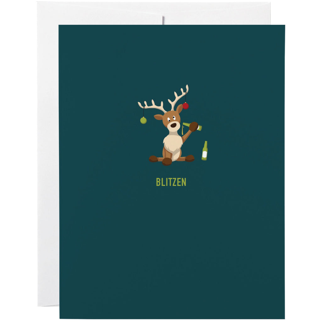 Blitzen Holiday Card