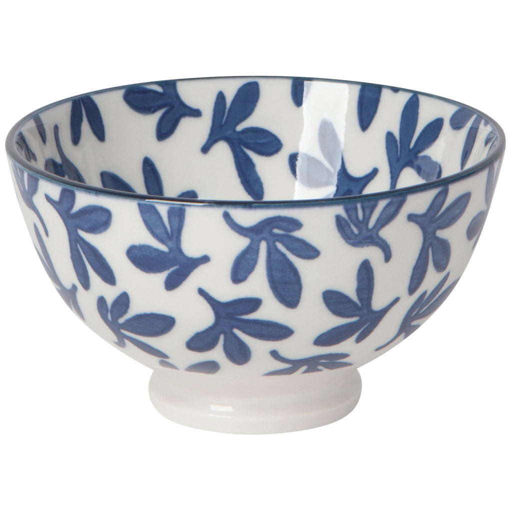 Blue Floral 4 Inch Stamped Bowl