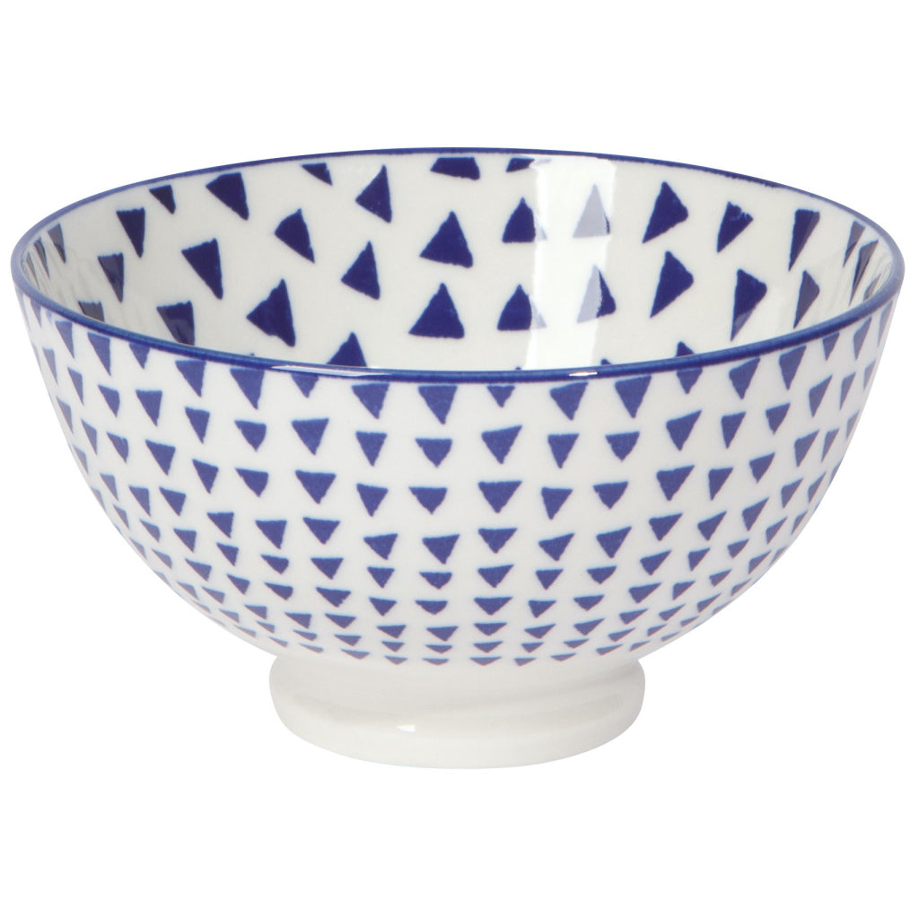 Blue Triangles Bowl 4 Inch