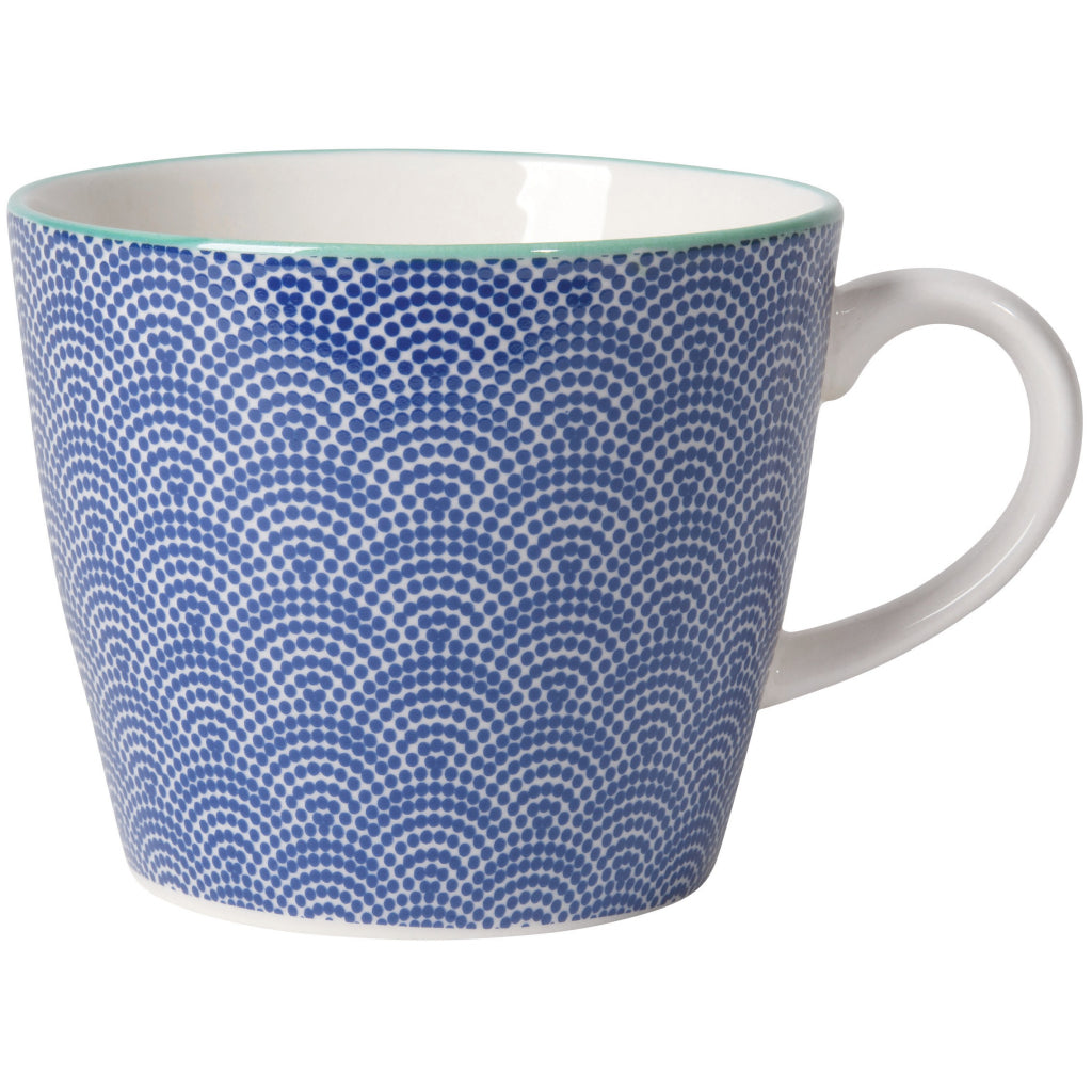 Blue Waves Stamped Mug 12oz.