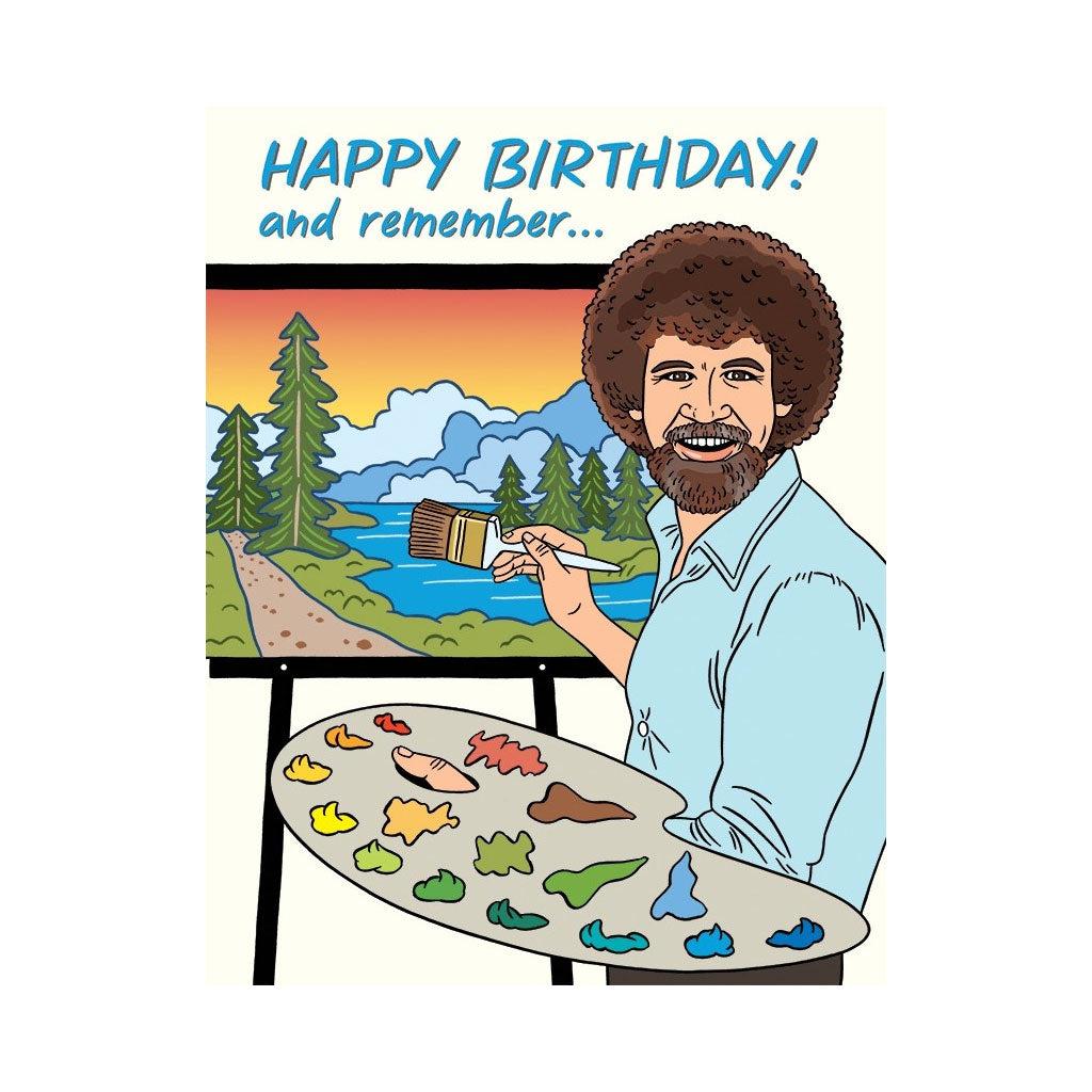 Bob Ross Birthday Card By The Found Outer Layer