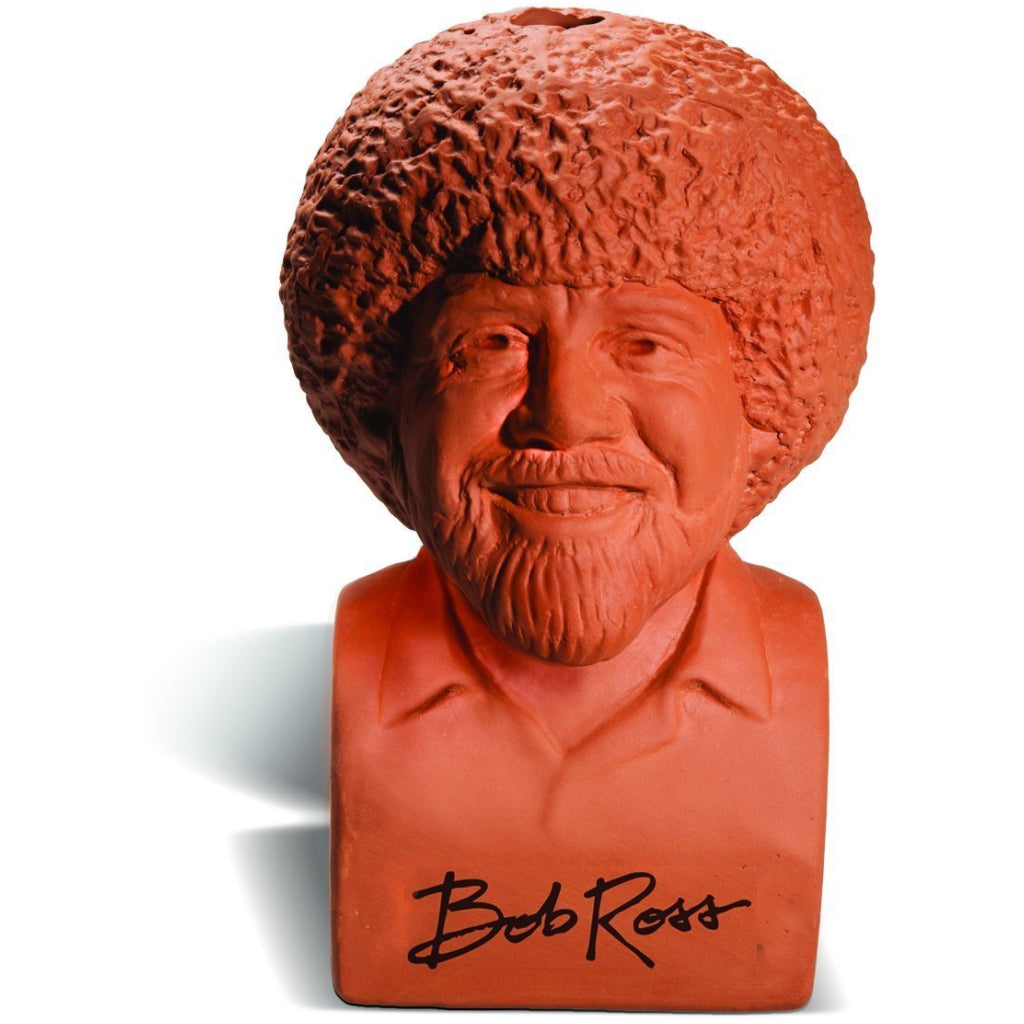 Bob Ross Chia Pet Before