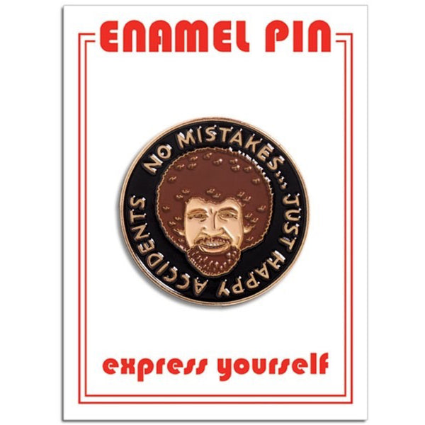 Bob Ross Happy Accidents Enamel Pin