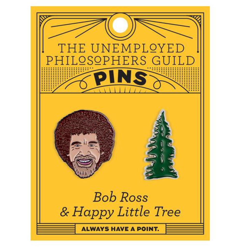 Bob Ross & Tree Pin Set Package