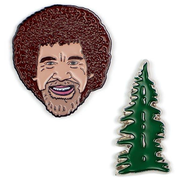 Bob Ross & Tree Pin Set