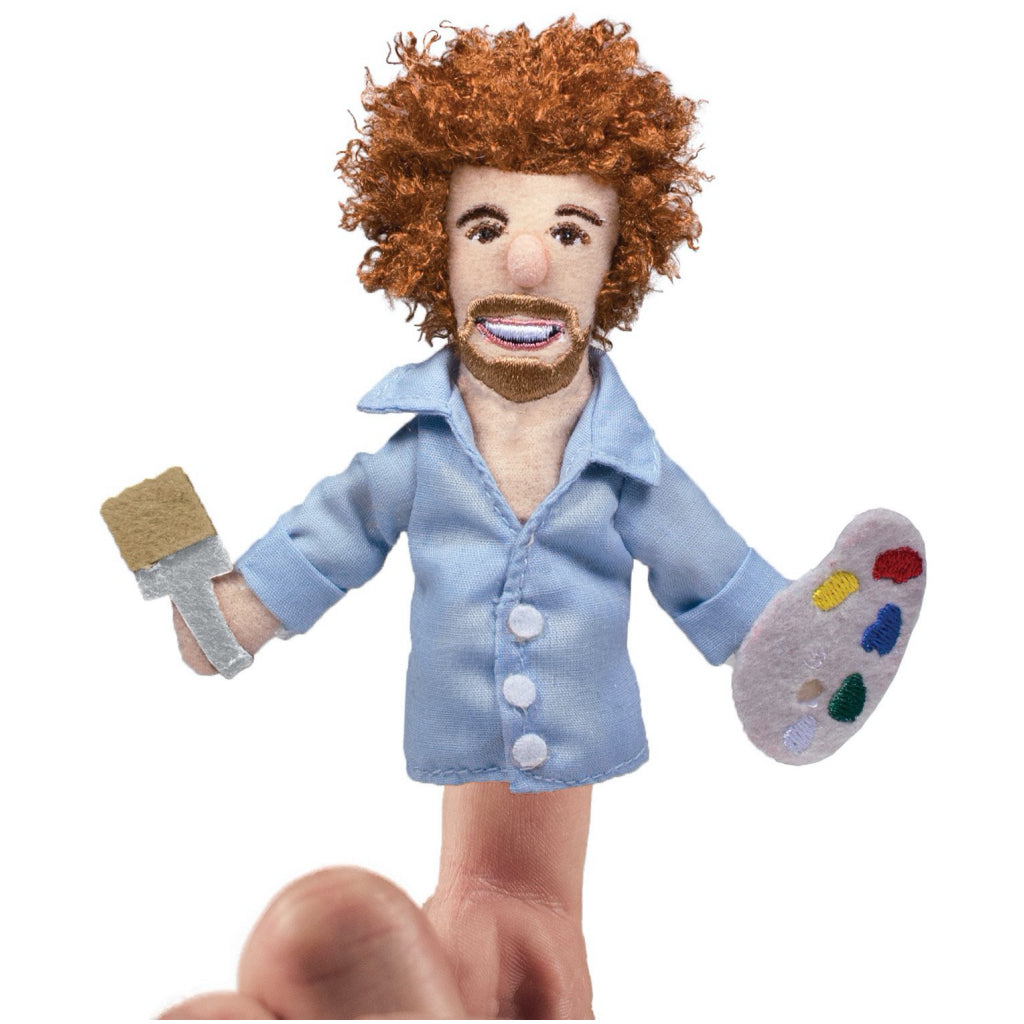 Bob Ross Finger Puppet In Use