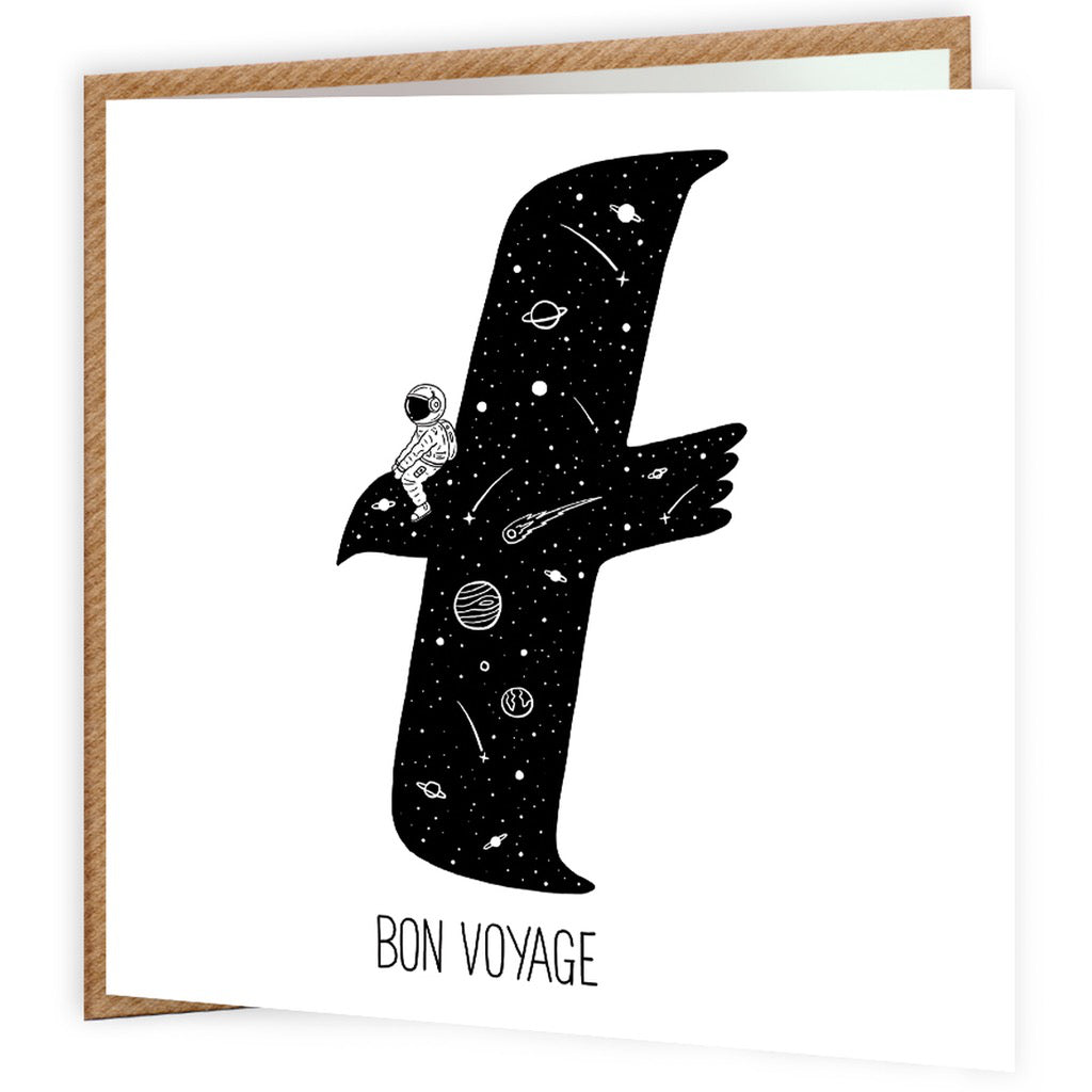 Bon Voyage Space Eagle Card