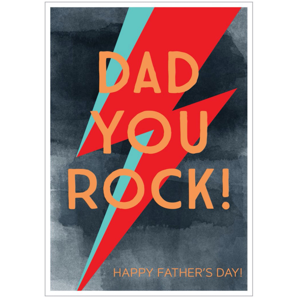Bowie Bolt Dad You Rock Card