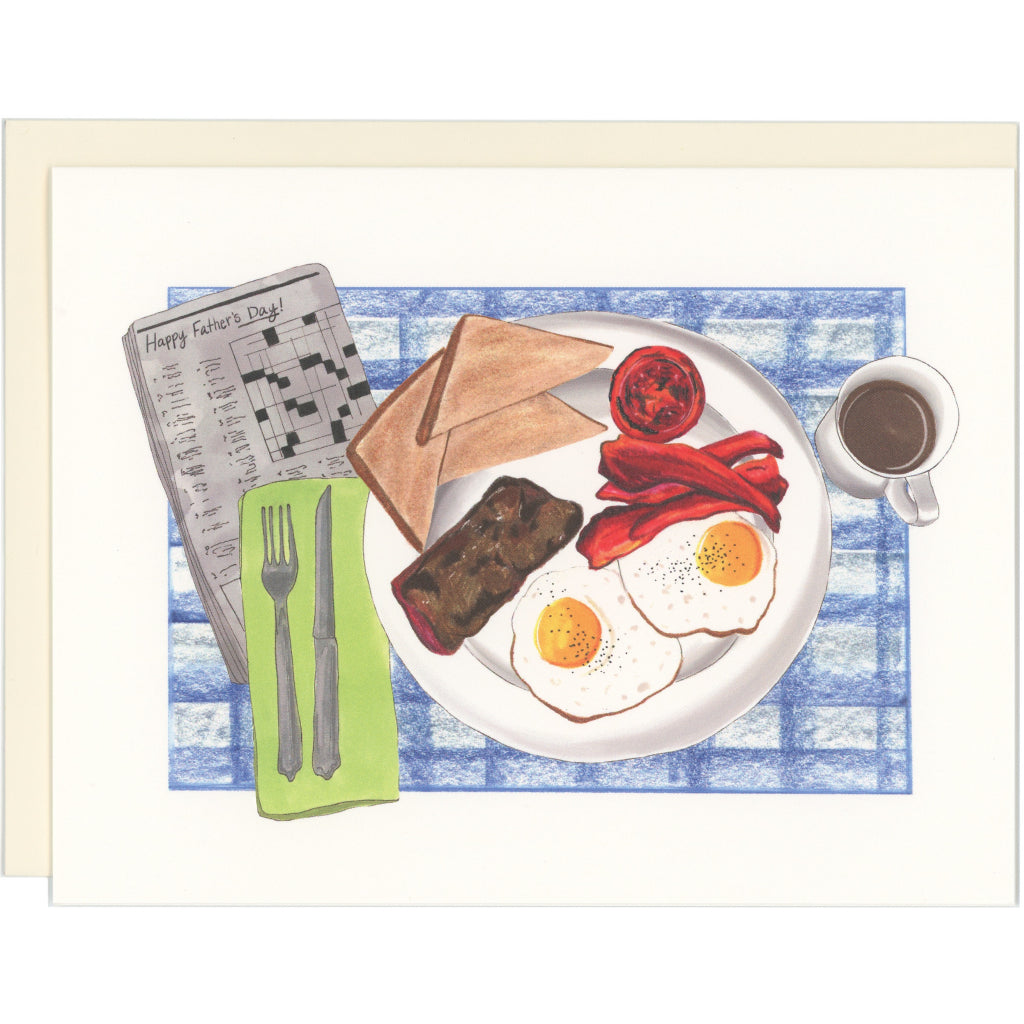 Breakfast In Bed For Dad Card