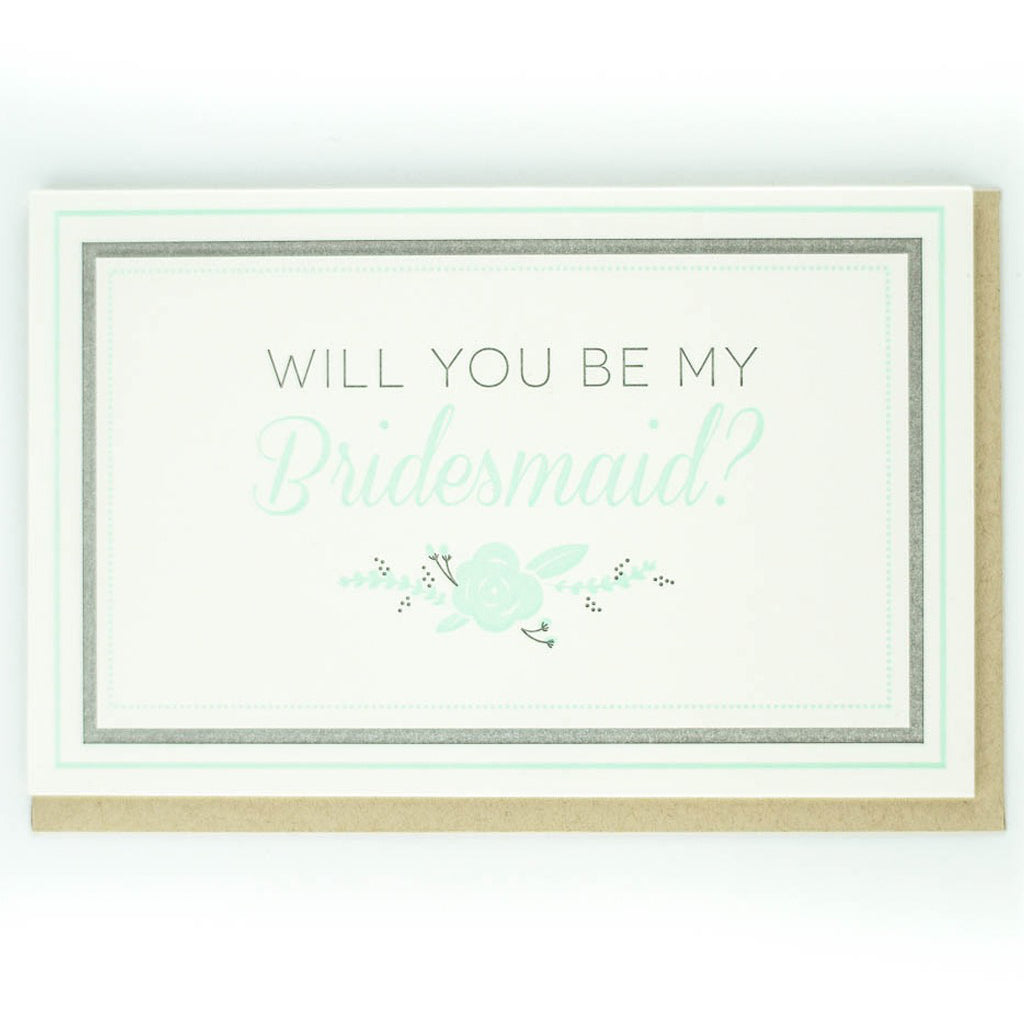 Bridesmaid Asking Card