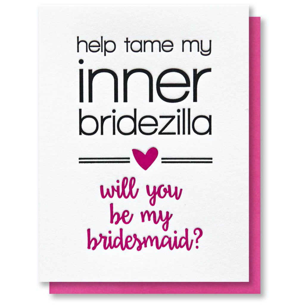 Bridesmaid Inner Bridezilla Card