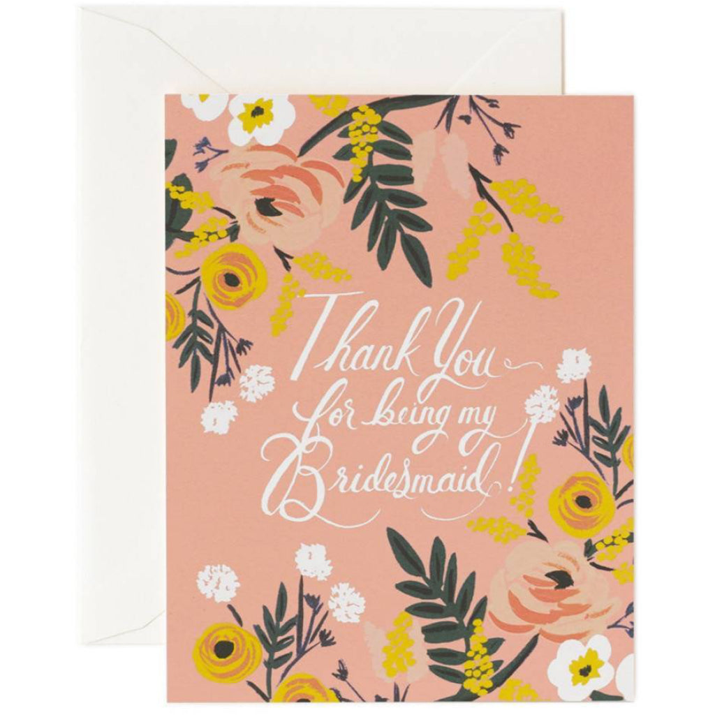 Bridesmaid Thank You Card By Rifle Paper Co Outer Layer