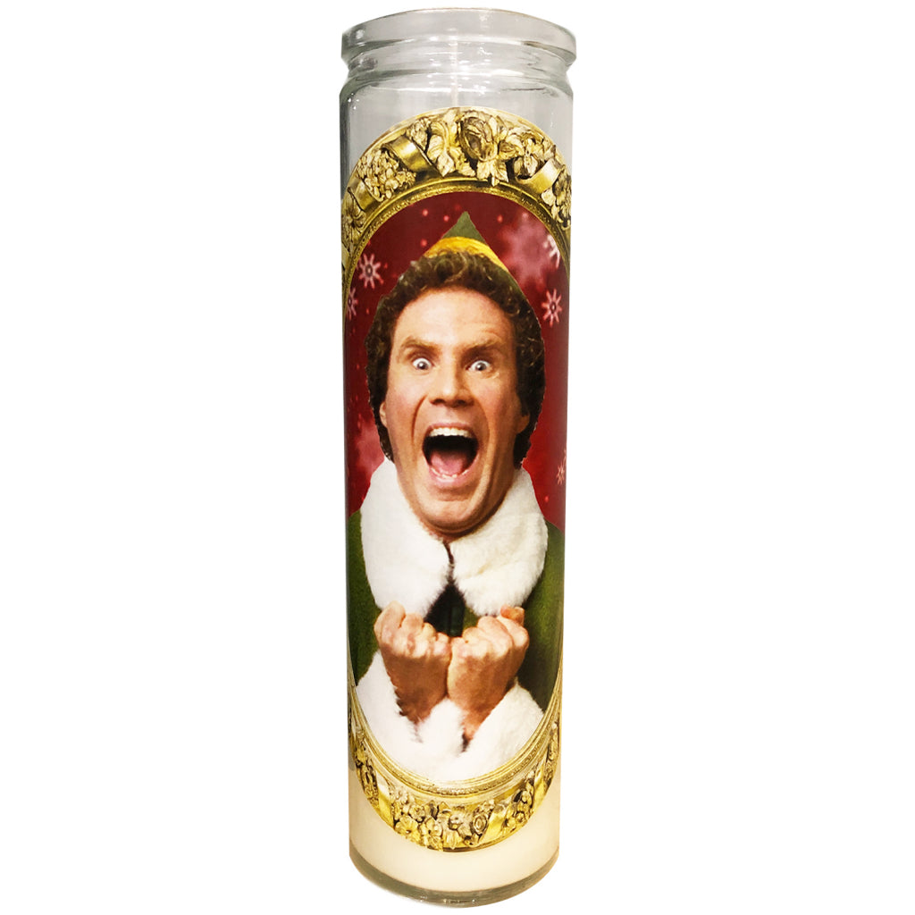 Buddy The Elf Will Ferrell Celebrity Prayer Candle