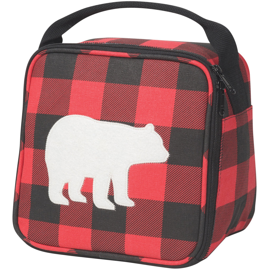 Buffalo Check Bear Lunch Bag