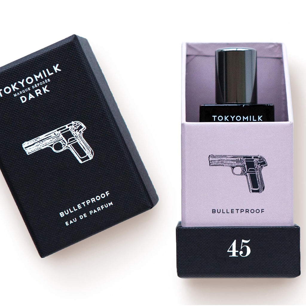 Packaging of Bulletproof Perfume.