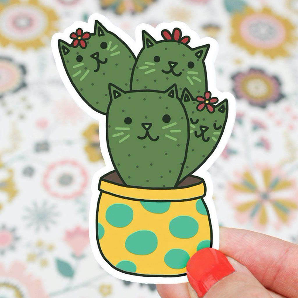 Cactus Cats Prickly Paw Sticker