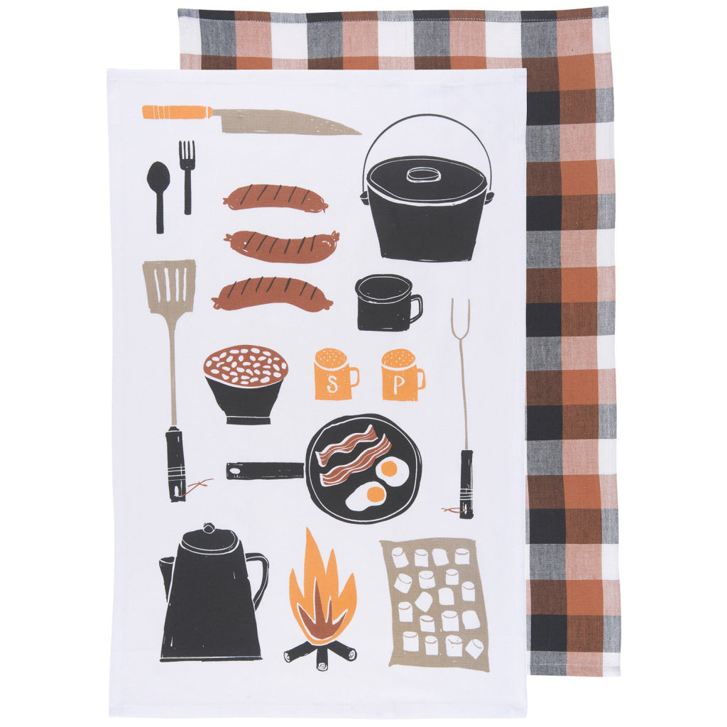Camp Cookout Tea Towels Set of 2