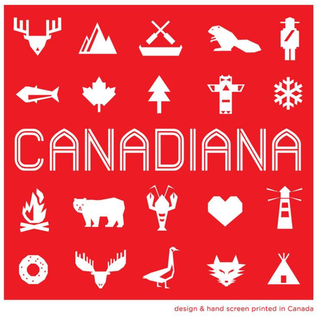 Tote Bag with icons of Canada.