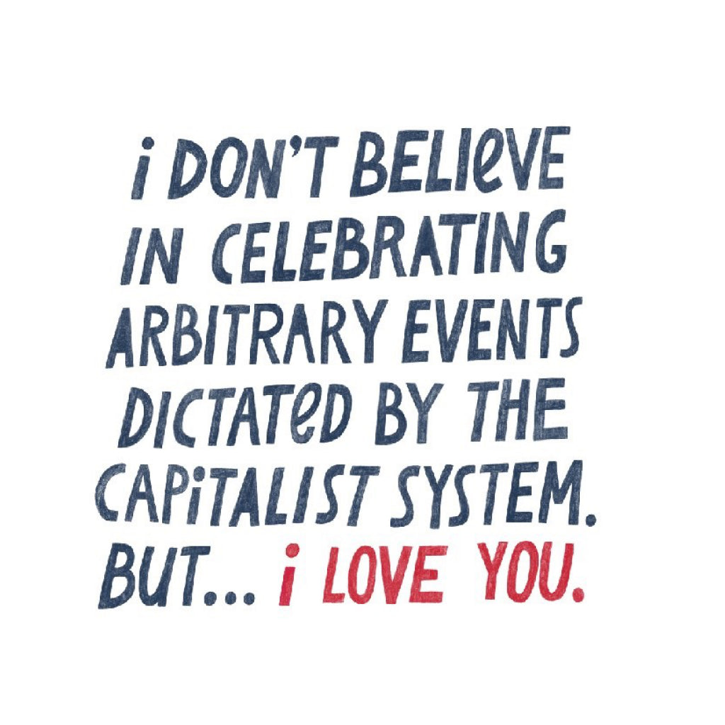 Capitalist System Love Card