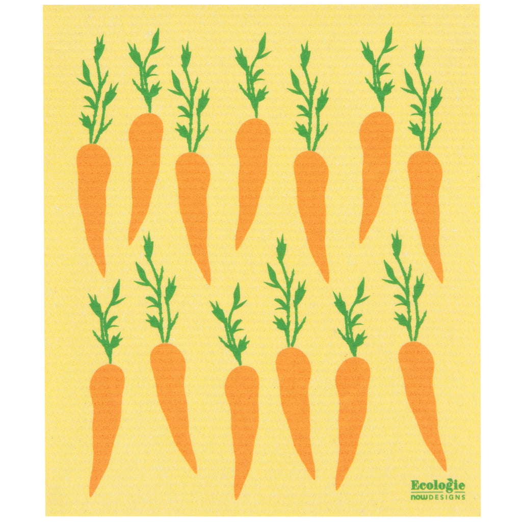Carrots Swedish Dish Towel