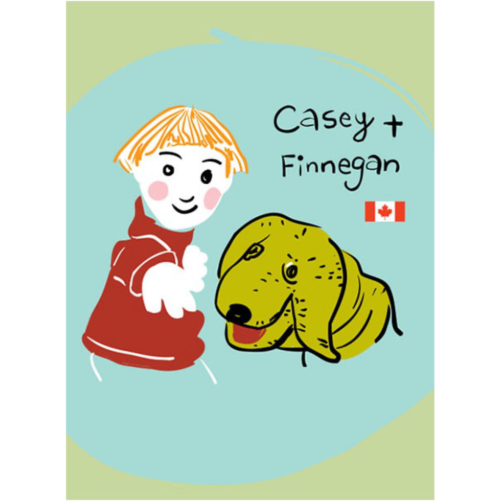 Casey and Finnegan Card