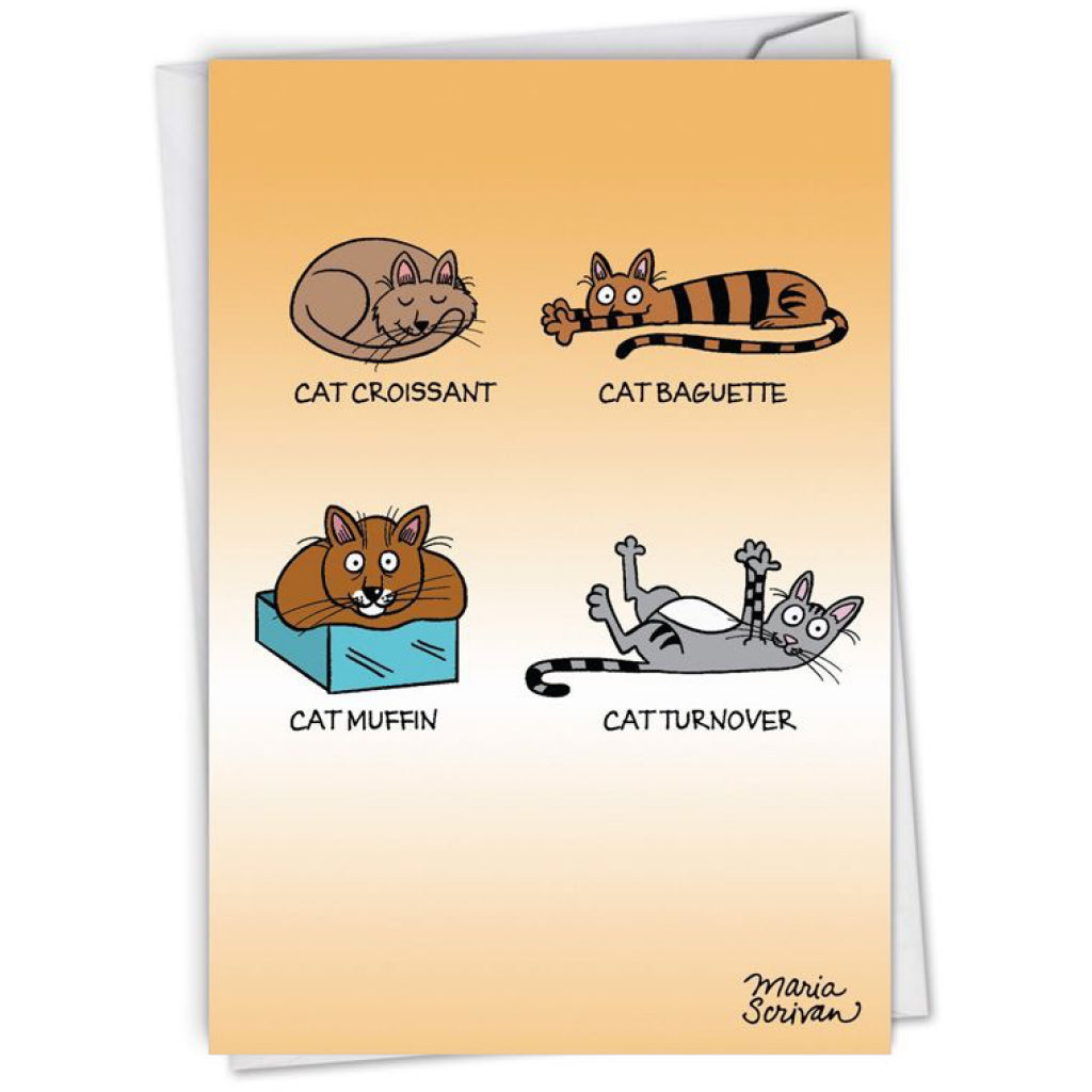 Cat Baked Goods Birthday Card