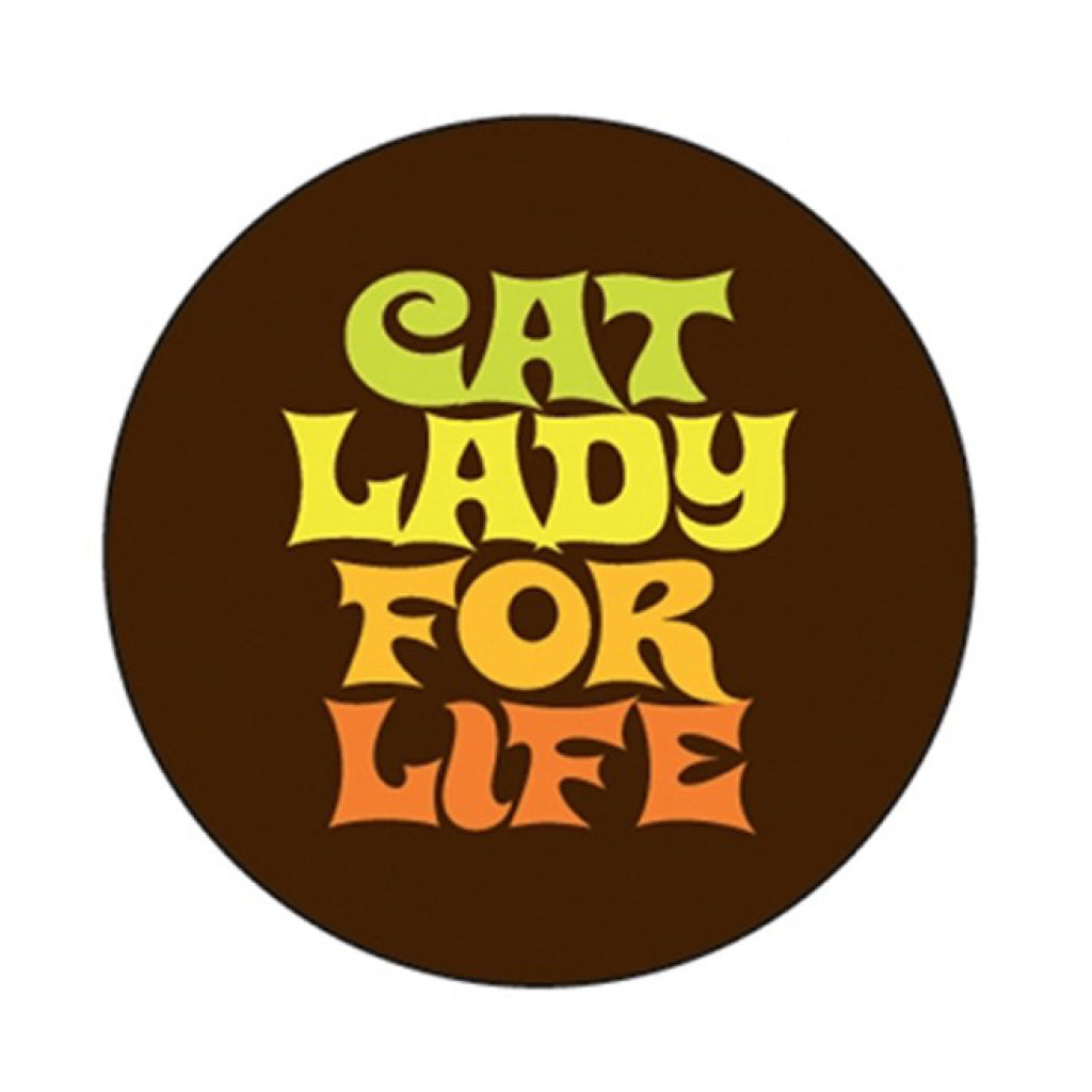 Cat Lady For Life Round Magnet