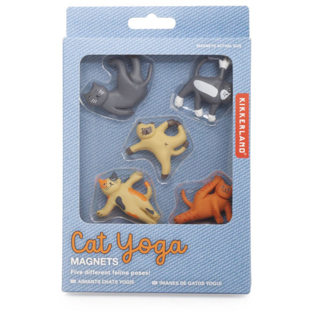 Cat Yoga Magnets Packaged