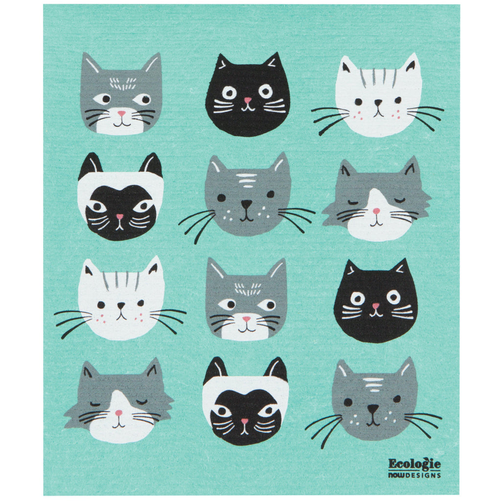Cats Meow Swedish Dish Towel