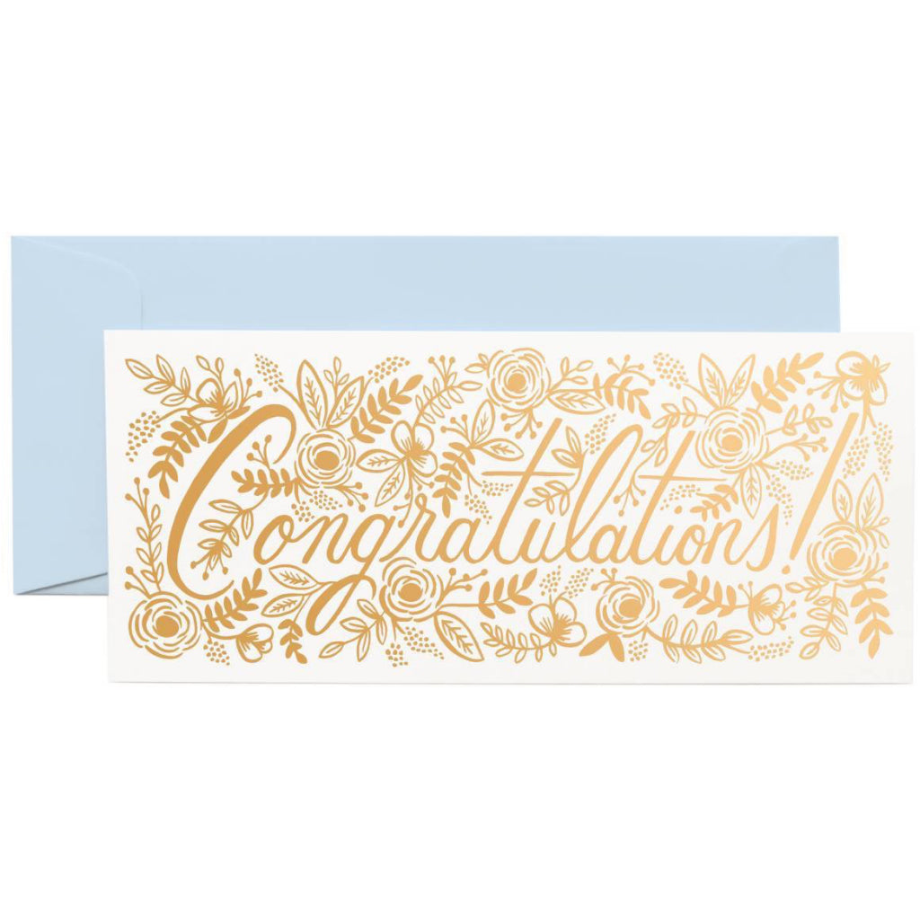 Champagne Floral Congrats No.10 Card