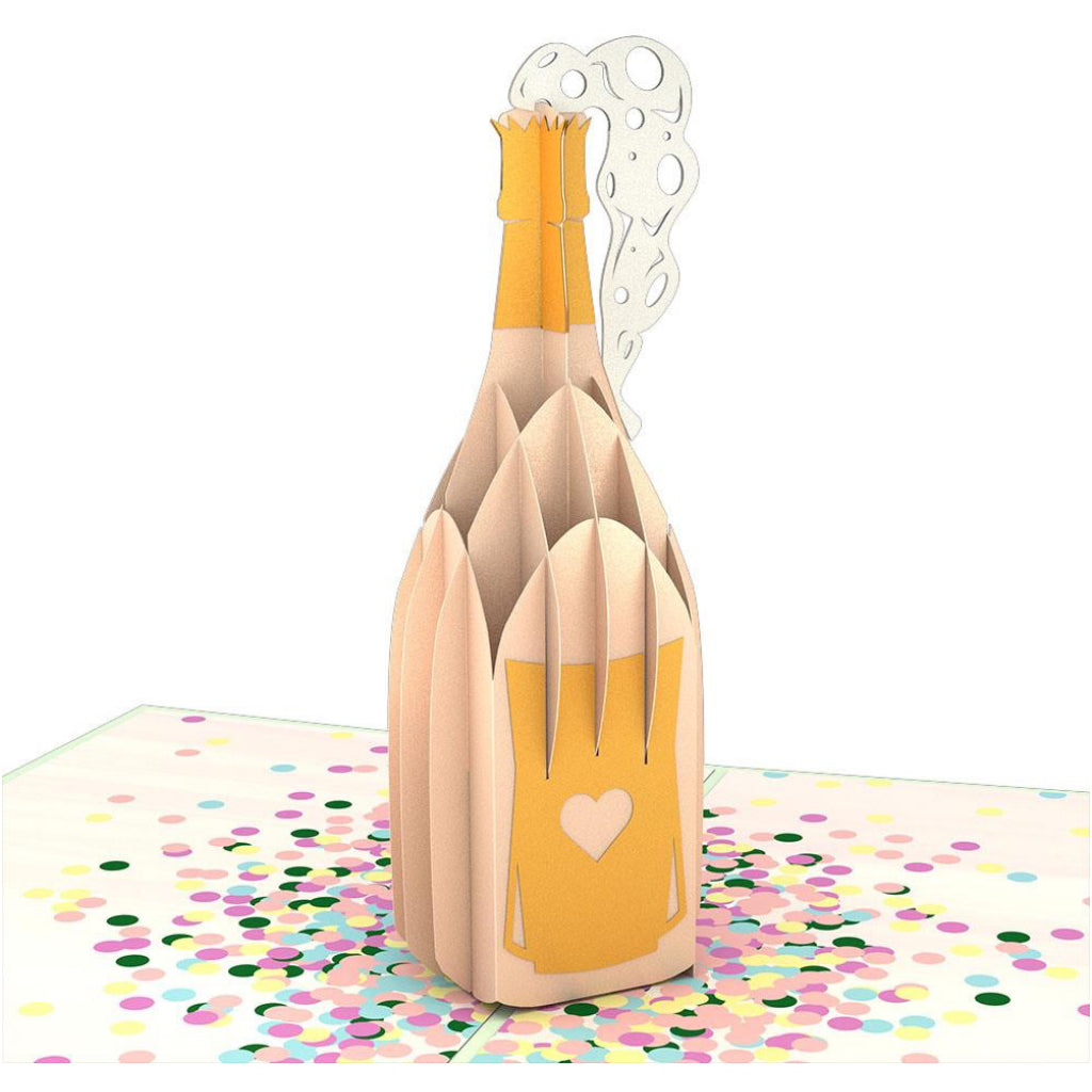 Champagne Pop 3D Pop Up Card