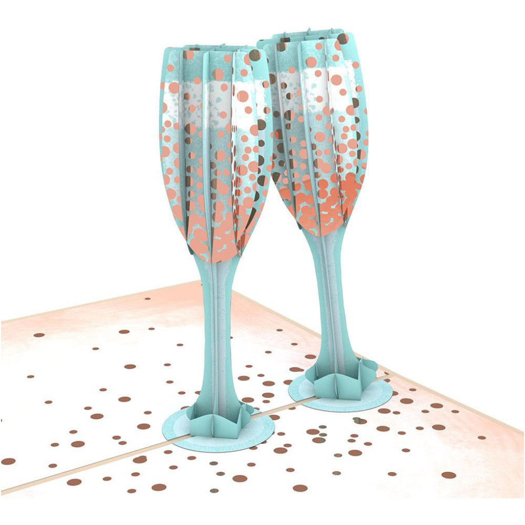 Champagne Toast 3D Pop Up Card