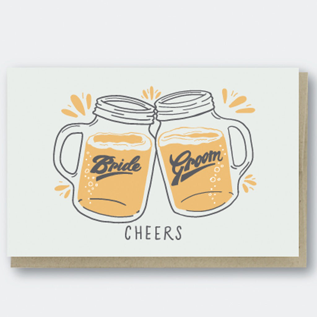 Cheers Beers Wedding Card