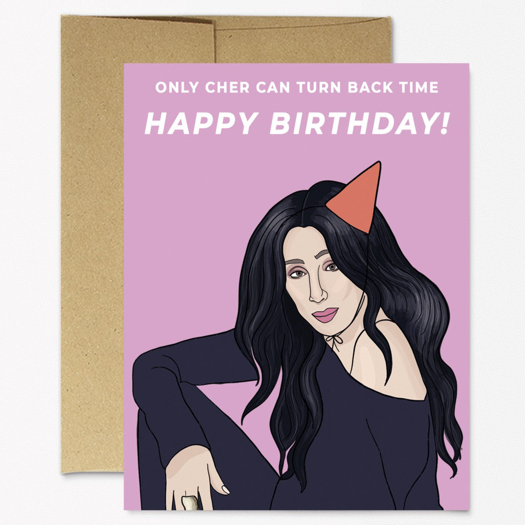 Cher Turn Back Time Birthday Card